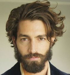 Here is a set of pictures of modern beard styles. At our barbershop we're starting to get more customers ask for thick facial hair styles like the hipster beard. We have quite a few look books and pic 2015 Hairstyles, Cool Hairstyles, Black Hairstyles, Hairstyle Ideas, Grunge Hairstyles, Trending Hairstyles, Messy Hairstyle, Layered Hairstyles, Men's Wavy Hairstyles