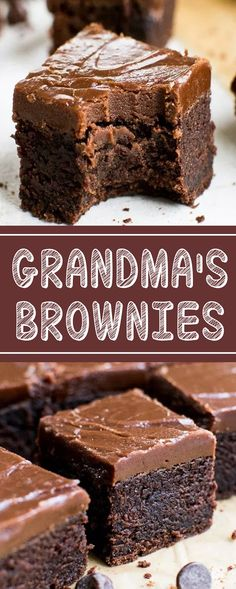 The best brownies - HQ Recipes 13 Desserts, Cookie Desserts, Chocolate Desserts, Cookie Recipes, Delicious Desserts, Dessert Recipes, Yummy Food, Bar Recipes, Chocolate Brownie Cake