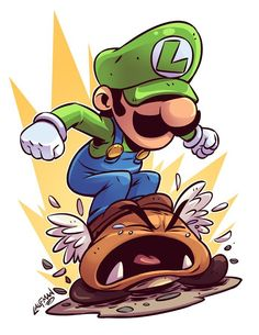Chibi Luigi by mr. Super Mario Kunst, Super Mario Art, Super Mario Tattoo, Cartoon Drawings, Cartoon Art, Cool Drawings, Video Game Drawings, Graffiti Characters, Chibi Characters