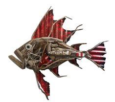 Charles Wilcox – Oceanus. #FishSculpture #Driftwood #AustralianArt #SapphireCoast #WallSculpture