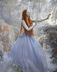 My fairytale image with @rudaanas modelin dress from @gosiamotas #agnieszkalorek #fairytale #fairy #fantasy #gown #longhair #ginger #instalove #mystyle #fashion #elf #romantic #garden #spring #love #to #nature #naturalhair #curls #blue #dress #ornaments #shoot #colours #instalove #instacool