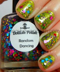 Dollish Polish Random Dancing over Color Club Fly with Me. Vibrant!!