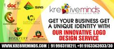 Stand out from your competitors and rule the market with our innovative and creative Logo Design services! http://www.kre8iveminds.com/