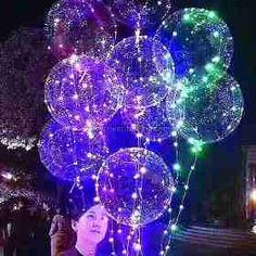 Balão Para Festa Led Aniversário Casamento Bexiga Balada Luz - R$ 13,50