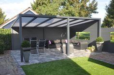 Blokhutten/Veranda's :: (Aluminium) Verandas :: Veranda Aluminium 500x250 cm Vrijstaand - Lek Tuinmaterialen