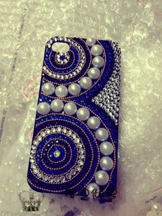 Antique iPhone 5/4 case Chritmas cover crystals Rhinestone Handmade jewel iPhone case Studded Bling decorate iPhone 4s case. $29.00, via Etsy.