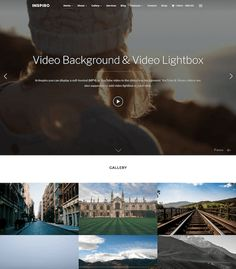 Inspiro - A professional Photo / Video focused WordPress theme People Around The World, Around The Worlds, Wordpress Gallery, Video Background, Best Wordpress Themes, Be Perfect, Modern Design, Photo And Video
