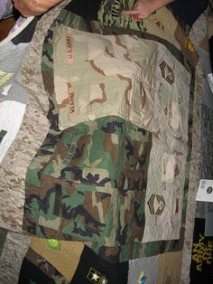 Using Military Uniform Quilt Pattern | Army Quilt - Uniform Squares | Flickr - Photo Sharing!