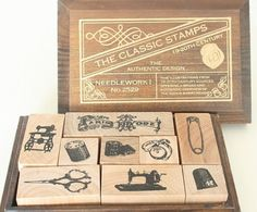 Sewing rubber stamps