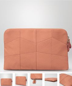 100% genuine leathe Baby Pink Clutch by Claude Laurent