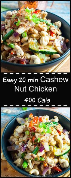 This Cashew Nut Chicken is a quick and easy weeknight dinner or Friday night fakeaway. Its full of flavour, and comes in at a healthy 400 calories per serve.