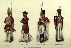 Types of old infantry uniforms of the British army, 1750–1835