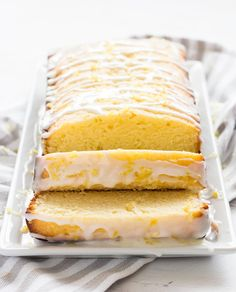 Glazed lemon pound cake is tender, sweet and full of lemon flavor. It's a delicious dessert to try for spring, Mother's Day or birthday celebration!