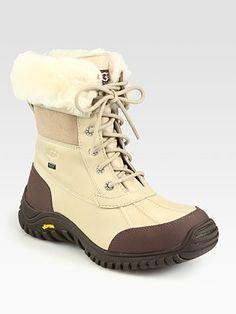 4f6b09afd1f UGG - Adirondack II Lace-Up Shearling   Leather Boots