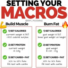 Here's a quick guide for setting up your diet for both muscle building and fat loss💪 ⠀ An example for fat loss 🧐 ⠀ SETTING CALORIE DEFICIT…