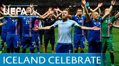 Iceland celebrations vs England in full: Slow hand clap