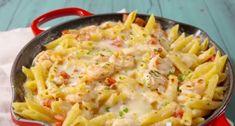 Voici le meilleur plat gratiné avec des crevettes à l'ail et des pâtes… c'est divin!