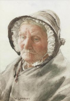 Walter Langley, RI (British, 1852-1922) Portrait of an old lady