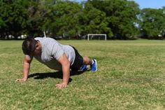 Walking Push Up. Step One: Keep your back straight and in a neutral position and engage your core.