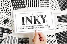 Inky Seamless Vector Patterns Vol2 by Pink Coffie on @creativemarket