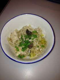 Winna Winna Chicken Dinner!    Both kids enjoyed this for lunch this afternoon. It is almost like a hardy soup with lots of noodles. Serve...