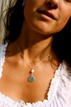 Sand Dollar Necklace - CestEllebyJanelle on Etsy