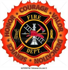Firefighter Honor Courage Valor View Large Clip Art Graphic