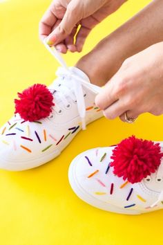 Make ice cream-inspired sneakers for the summer with this DIY embroidery tutorial.