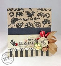 Kerrianne Gwin for Wplus9 featuring Damask Delight stamps.