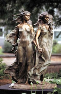 """""""Daughters of Odessa"""" by Frederick Hart Bronze Sculpture"""