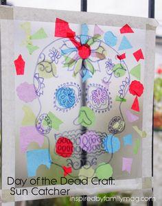 Day of the Dead /Día de Muertos crafts for kids -- Sun Catcher