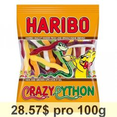 Pack of 1 x 175 g Made in Germany Candy Recipes, Baby Food Recipes, Python, Haribo Sweets, Fruit Gums, Chibi Food, Kids Room Wallpaper, Camo Wallpaper, Kids Room Furniture