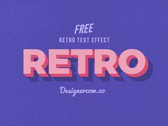 Retro Text Effects PSD Free Retro Vintage Text effect. Give your Normal text a Retro Vintage look with this Photoshop style!Free Retro Vintage Text effect. Give your Normal text a Retro Vintage look with this Photoshop style! Photoshop Design, Photoshop Effekte, Photoshop Text Effects, Retro Graphic Design, Graphic Design Posters, Graphic Design Inspiration, Lettering, Typography Design, Branding Design