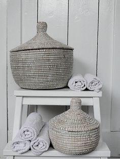 beautiful lidded baskets from Tierlantijn - Mand Tajine