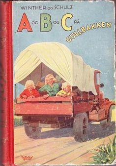 """""""A og B og C på Gullbakken"""" Childhood Memories, Teen, Reading, Books, Painting, Libros, Book, Painting Art, Reading Books"""