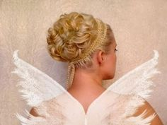 Wedding updo Curly prom hairstyles for short medium long hair tutorial Cute bridesmaid Greek goddess hairstyles-to-be-attempted popular-pins-i-loved Curly Prom Hair, Thick Curly Hair, Prom Hairstyles For Short Hair, Curls For Long Hair, Prom Hair Updo, Medium Long Hair, Medium Hair Styles, Wedding Hairstyles, Curly Hair Styles