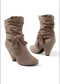 Knotted Slouchy Boot by Venus #boots #shoes