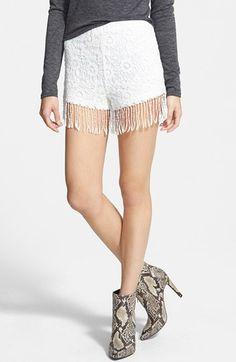 #Crochet Fringe Shorts.. Women Vacaton Clothes