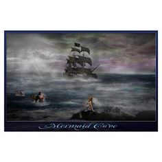 Mermaid Cove Wall Art Poster
