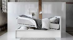 IKEA offers everything from living room furniture to mattresses and bedroom furniture so that you can design your life at home. Check out our furniture and home furnishings! Ikea Bedroom Dressers, Ikea Small Bedroom, Ikea Bedroom Design, Ikea Bedroom Furniture, Bedroom Bed, Bedroom 2018, Bedroom Colors, Bed Frame With Storage, Bed Storage