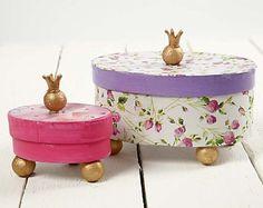Prinsessen dozen met decoupage