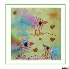 ART POSTAL  les oiseaux conteurs  bricolage enfant