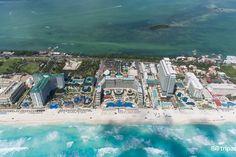Hard Rock Hotel, Boulevard Kukulcan, Cancun, Mexico aerial photography, hotel, building, beach, sea, ocean, vacation