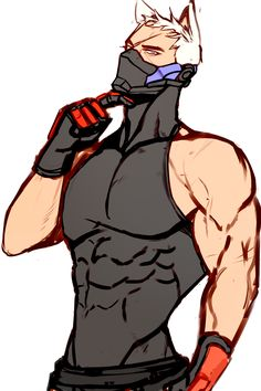 Kitty Soldier he's even cooler and cuter with a pair of cat's ear. Jack Morrison, Soldier 76, Hot Anime Guys, Cat Ears, Overwatch, The Voice, Beast, Kitty, Tumblr
