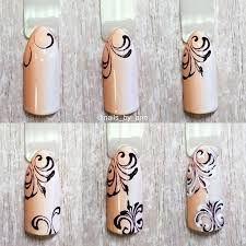 Znalezione obrazy dla zapytania вензеля на ногтях