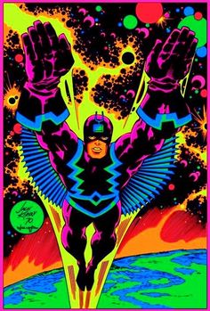 Jack Kirby's Black Bolt in Blacklight Art (1970)