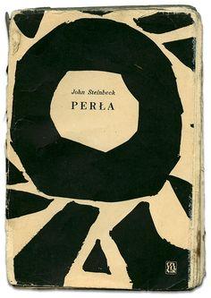 The Pearl by John Steinbeck  designed by Jan Młodożeniec, Czytelnik, Warszawa 1956 via http://www.book.hipopotamstudio.pl/?p=1485