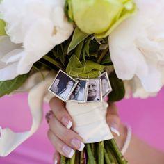 Wedding bouquet in memory of loved ones