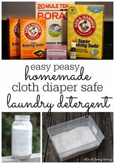 It's a Long Story: Easy Peasy DIY Cloth Diaper Safe Laundry Detergent