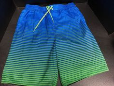 b2b69ce469ea9 Nike Mens Swimming Trunks Blue And Neon Green Size Large #fashion #clothing  #shoes